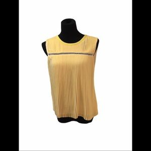 Gerard Darel yellow sleeveless top, size 38